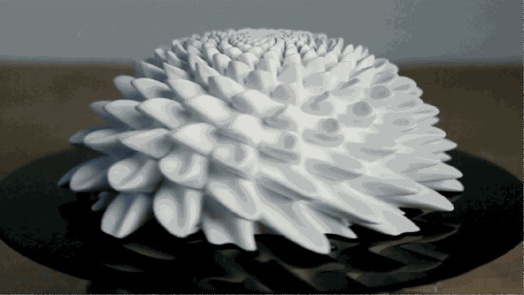 Watch 3D-printed objects turn into spinning works of art