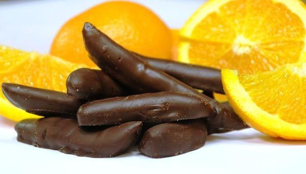 Μπαστουνάκια πορτοκαλιού με σοκολάτα