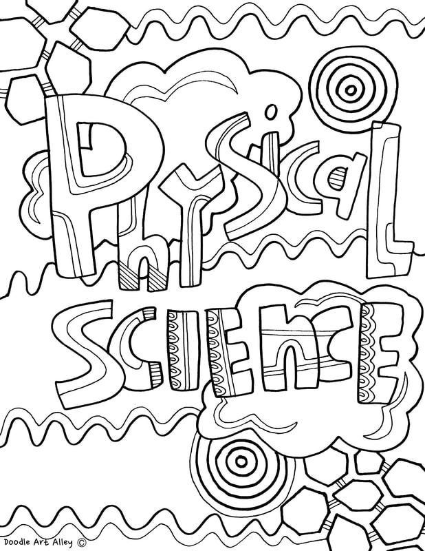 Subject Cover Pages Coloring Pages Classroom Doodles With
