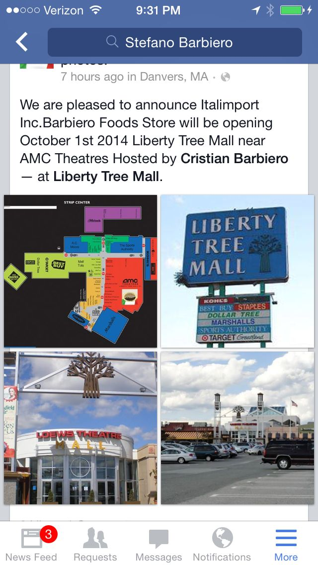 Barbiero Foods opening October 1st 2014 @liberty tree mall in Danvers Ma