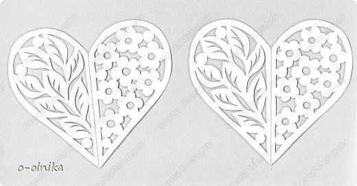 Ziua Îndrăgostiților felicitare Cut Atunci când două inimi sunt bătuți IMPREUNA vyrezalka Photo Paper 5