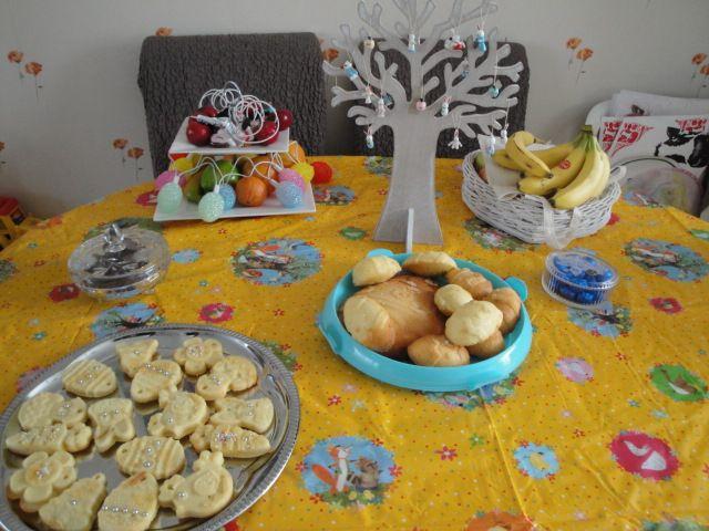 gezellig paas tafel