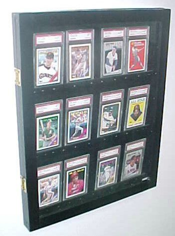 12 Graded card Baseball card displays case will hold 12 graded baseball cards 100108