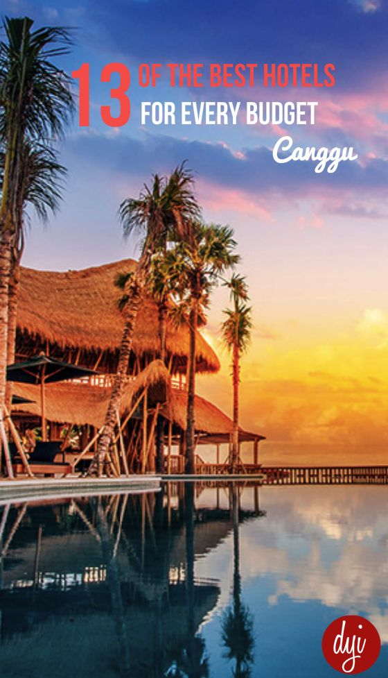 A shortcut to some of the best hotels in Canggu for every budget.