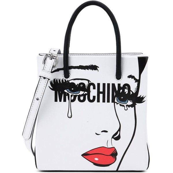 Moschino Handbag ($650) ❤ liked on Polyvore featuring bags, handbags, shoulder bags, white, moschino, man bag, handbags shoulder bags, moschino purse and white shoulder handbags