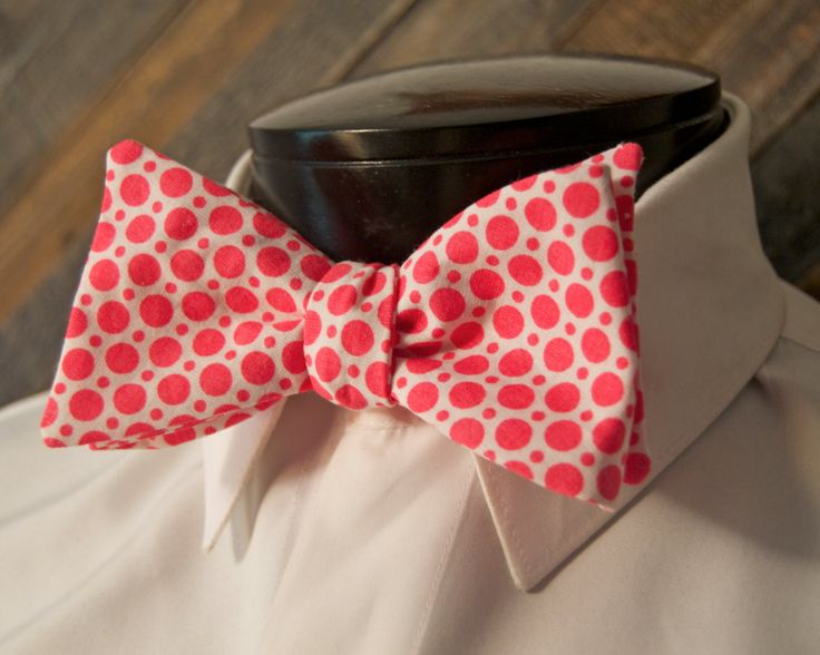 cotton coral selftie bow tie wedding bowtie funky bowties adult bowtie matching