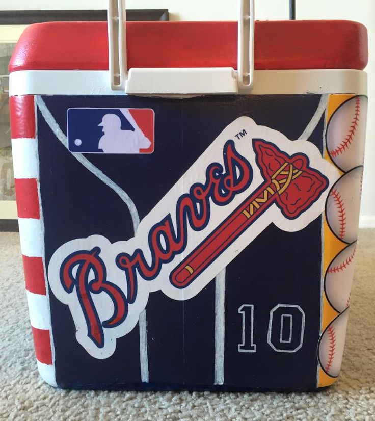 Braves Cooler | The Cooler Connection on Pinterest
