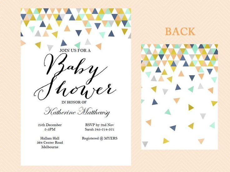 Instant Download, Editable Baby Shower Invitation, Coral And Mint Baby  Shower Invite, Modern
