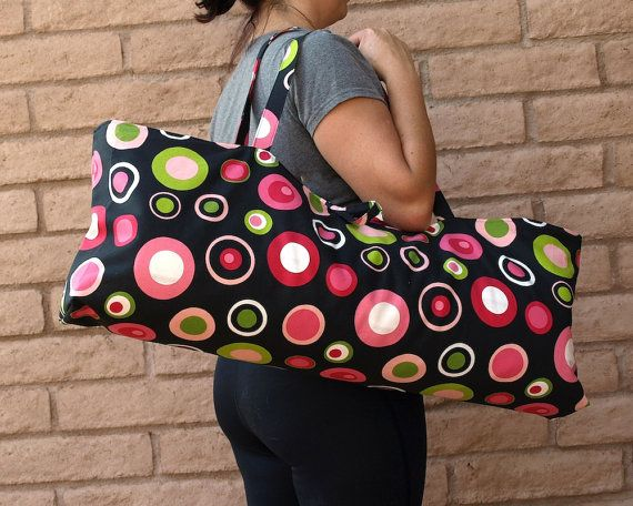 """ MOD DOTS"" Handmade Yoga or Pilates Tote Gym Bag by ChellaBellaDesigns, $55.00"