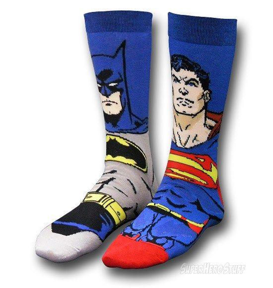Superman And Batman Socks: Super Friends For Your Feet