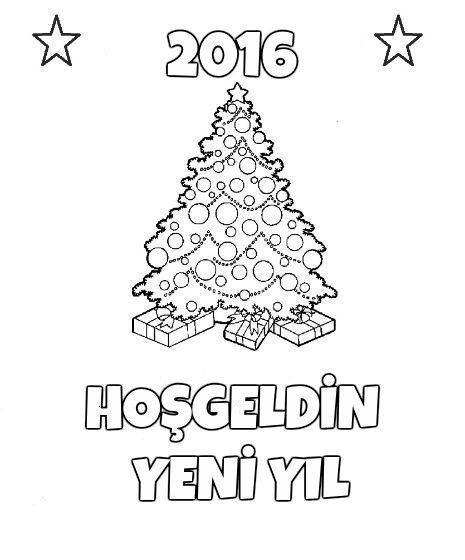 Yeni Yil Boyama Sayfalari