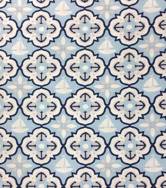 Magic MoonTM Nautical Quatrefoil Cotton
