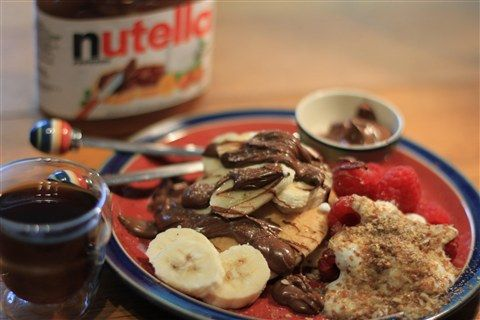 A mouth watering way to enjoy Nutella!