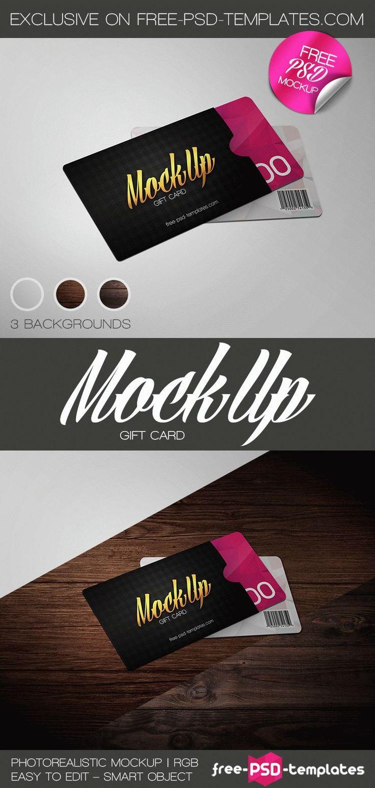 Free Gift Card Mockup PSD | Free PSD Templates | #free #photoshop #mockup #psd…