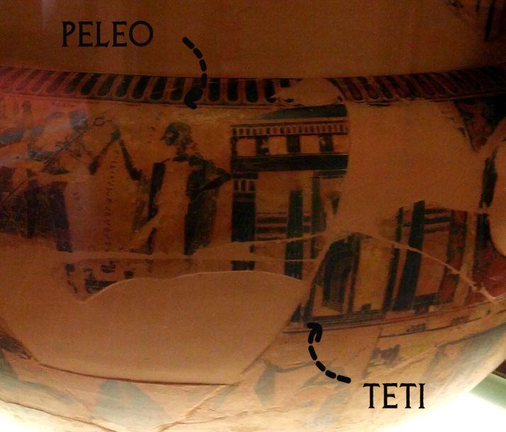 Il corteo nuziale per le nozze di Peleo e Teti sul Vaso François Firenze, Museo Archeologico Nazionale