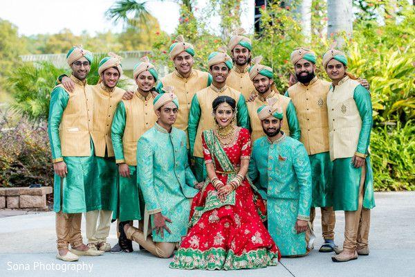 Bride and groomsmen. http://www.maharaniweddings.com/gallery/photo/105634