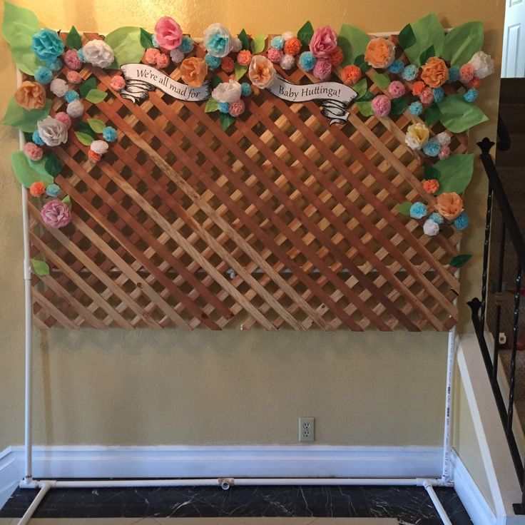 Home Depot Decorations: Pipes And Lattice From Home Depot And