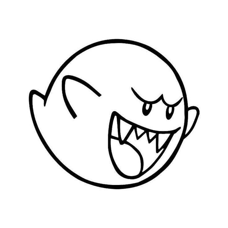 Super Mario Big Boo Ghost Gaming 2 Vinyl Decal Sticker  BallzBeatz . com