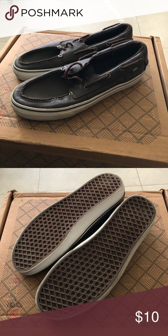 Vans boat shoes Brown Vans boat shoes. Worn a few times. Definitely plenty of life in them. Willing to trade or negotiate... Vans Shoes Boat Shoes