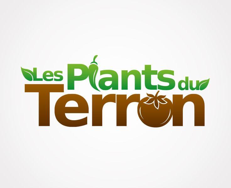 Création du logo « Les Plants du Terron » à Saint Martin en Haut.