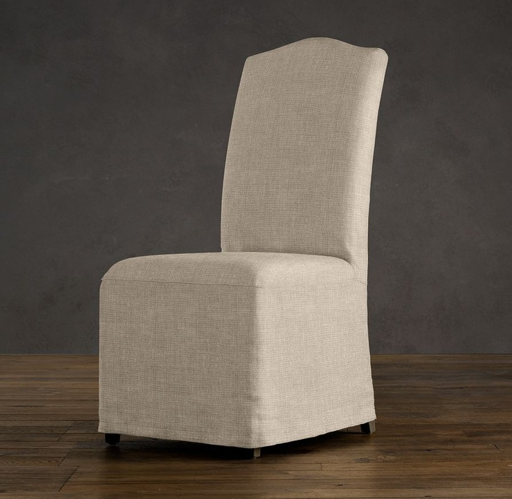 Hudson Camelback Slipcovered Side Chair With Slipcover