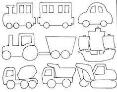 Vorlage: Zug, Auto, Traktor, Segelschiff, Bagger, Laster