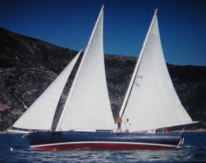 Dragut is a schooner designed by Carlo Sciarelli. Is also our home..