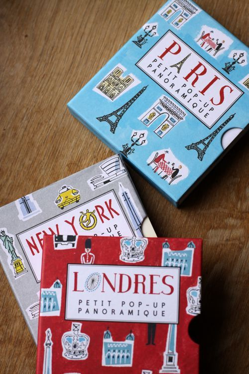perfect pop-up travel books of some of my favorite cities