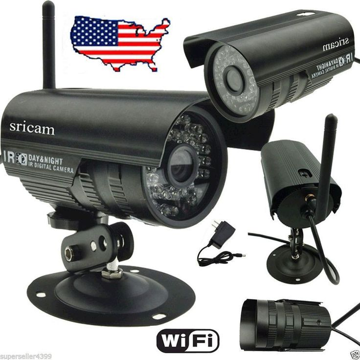 WIFI Wireless IP Camera Outdoor Motion LED IR Night Vision CCTV Monitor System #Unbranded