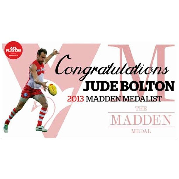 Congrats to this absolute legend - jude bolton