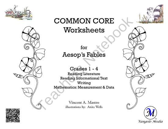 Common Core Worksheets For Aesops Fables Grades 1 4 From