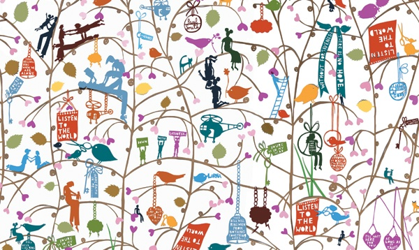 Celebrated artist and paper-cut genius, Rob Ryan AKA Mister Rob collaboration with Paul Smith
