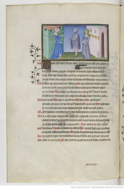 Publius Terentius Afer, Comediae 1400-1407 BnF., Français 247, 42v