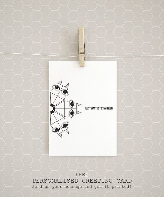"""A personalised greeting card! Get it free with every Organic Cotton t-shirt """"A Fox carousel"""" by Rooftop. #EtsyGifts #etsy #artprints #posters #homedecor #wallart #decoration #etsygreekstreetteam"""