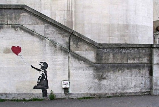 There Is Always Hope Balloon Girl by Banksy