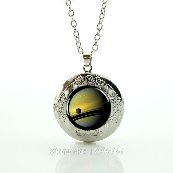 2017 Sale Collares Maxi Necklace Collier Planet Saturn Necklace Cassini With Titan Galaxy Space Jewelry Locket Pendant N763  #Affiliate