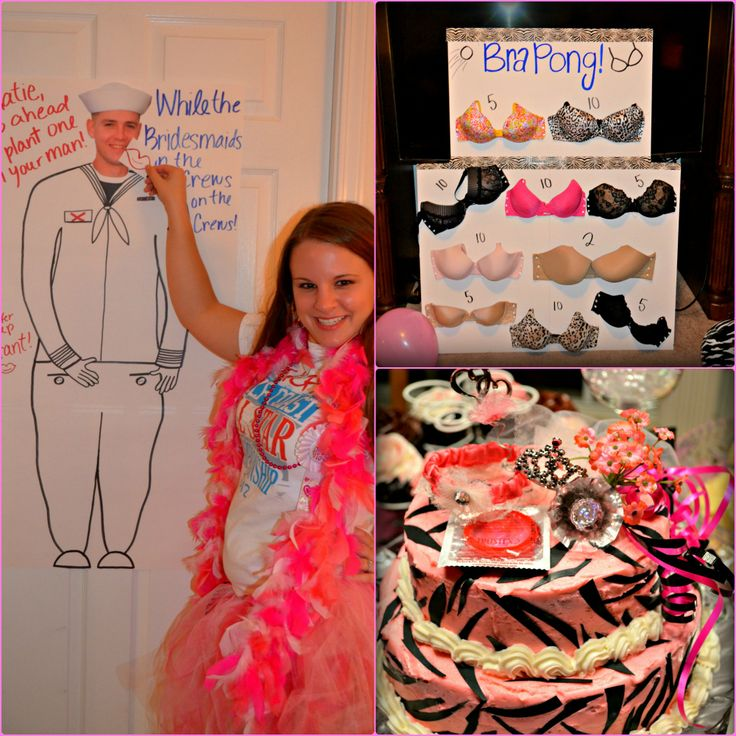 "Great ""Clean & Classy"" Bachelorette Party Ideas! Bra Pong"