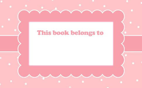 Free Download & Print (personal use) Pink Polka Dot Scallop Book Labels