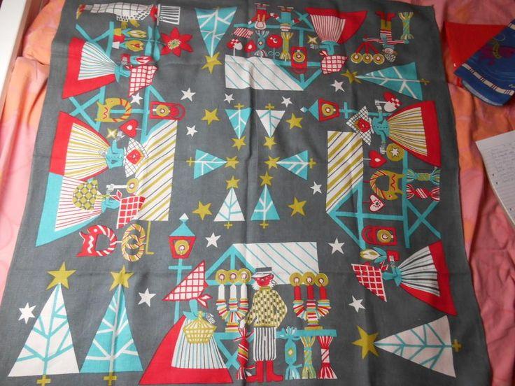 Retro! Annorlunda julduk 101x105 linne jättefin på Tradera.com - Textil