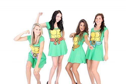 Teenage Mutant Ninja Turtles Green Costume Skater Dress - http://bandshirts.org/product/teenage-mutant-ninja-turtles-green-costume-skater-dress/