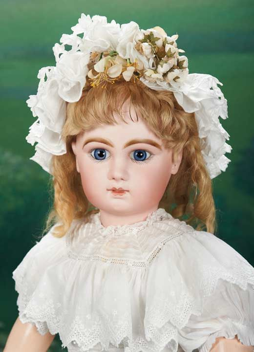 "Superb French Bisque Bebe Jumeau,Size 13,in Very Fine Antique Costume 28"" (71 cm.)"