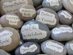Personalized Christmas Gift - Stocking Stuffer - Custom Beach Stone Message Rock - Inspirational Message - Teacher gift - Unique gift idea on Etsy, $18.50