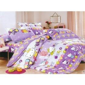 purple hello kitty bedding