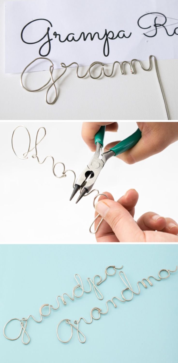 'Wire Craft - Wrapping Wire to Make Any Word or Name...!' (via Craving some Creativity)