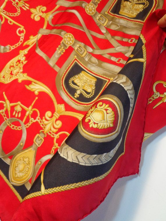 Vintage Retro Versace Baroque Style Gold Red & by POPWILDLIFE