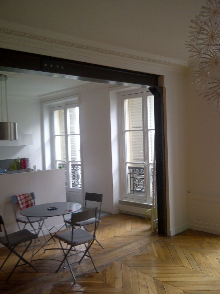Ouverture mur porteur pose ipn u et vitrification - Ouverture mur cuisine salon ...
