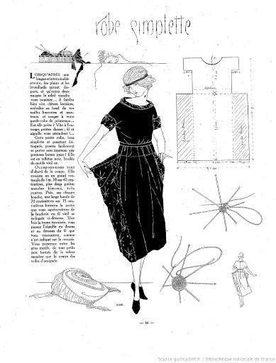 1920s Robe Simplette***look closely and you will see the simple and timeless quality of this style and shape...precursor to the Lagenlook if you skip the waist draw-string!! *!* see 1910-1920 for 115 similar patterns!*! s-c