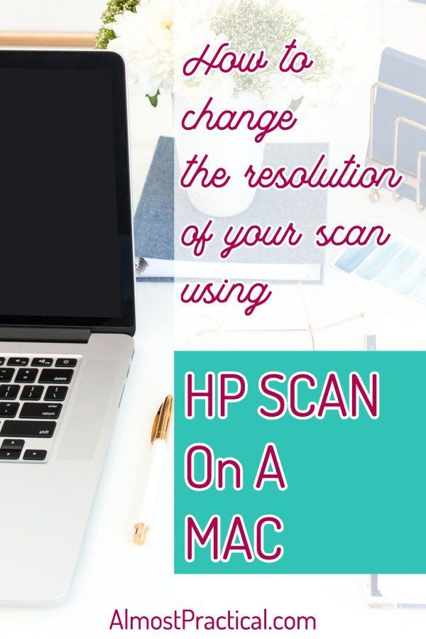 How To Change The Resolution Of Your Scan Using Hp Scan On A Mac Mac Computer Apple Mac Computer Computer Photography