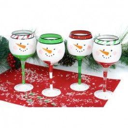Snowface Wine Glasses