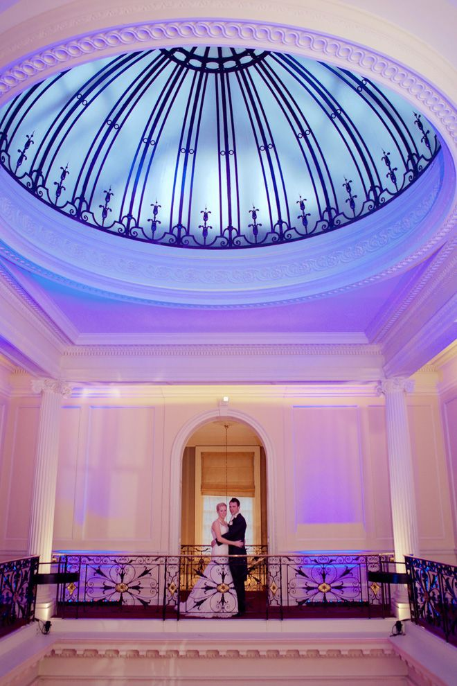 The dome-shaped roof at Hedsor House, creatively lit for amazing photos. Image by www.lolarosephotography.com. www.hedsor.com